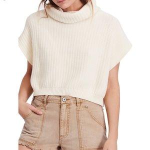 FREE PEOPLE keep it simple sweater vest cowl neck